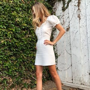 NWT white mini dress Xs/s